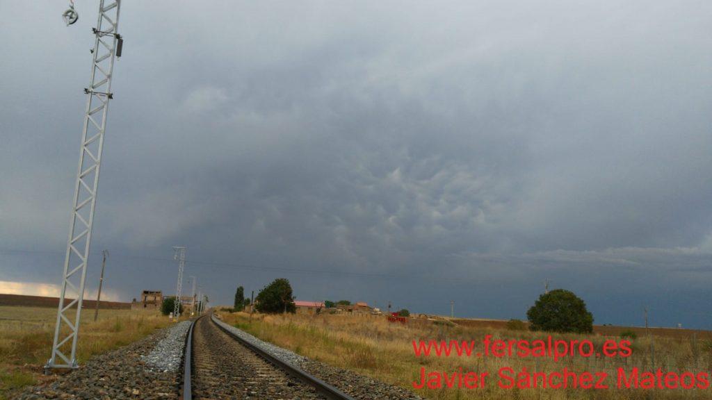 Se acercaba una gran tormenta que hizo que se paralizase todas las circulaciones durante unas horas.